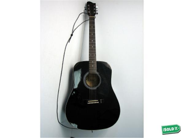 [black acoustic guitar from ebay]