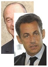 Chirac and Sarkozy