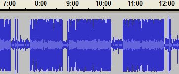 Audacity screen shot of Paul Miller podcast 1