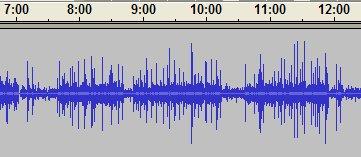 Audacity screen shot of Paul Miller podcast 2